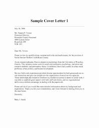 Sample Resume For Social Work Graduate School Fresh 40 Unique Cover