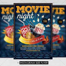 Free Movie Night Flyer Templates Movie Night Premium A5 Flyer Template