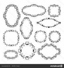 black filigree vector stock ilration fl design filigree frame elements