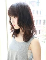 黒髪暗髪セミディデジタルパーマhi 175 ヘアカタログ髪型ヘア