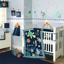 colorful blue ocean sea life baby boy nursery crib bedding set w turtles boys decoration idea