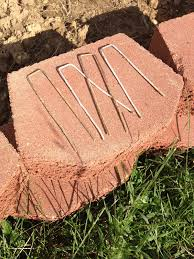 these little pieces of bent wire are just the things to hold down the edge of a pop up greenhouse or floating row cover or to tack down