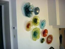 glass flower wall art flowers blown botanical with regard fused