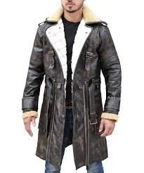 elder arthur brown leather fur collar maxson battle jacket coat