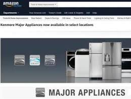 kenmore appliances. sears\u0027 launch of kenmore-brand appliances on amazon is picking up speed. kenmore h