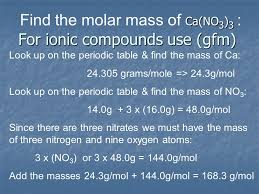 AP Notes Chapter 7 Mole Representative Particles Molecular Mass ...