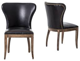 leather wingback dining chair. plain wingback four hands richmond leather wingback dining chair black transitionaldining chairs on chair e
