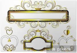 En el siglo xv se le añadieron gabletes a los arcos del piso superior y capiteles , por influencia del gótico europeo. Poster Marcos Decorados Con Estrellas De Oro Y Curvas Pixers Vivimos Para Cambiar