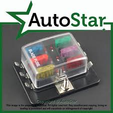 6 way blade fuse box 1 positive bus in 12v led warning kit car click on the image to enlarge