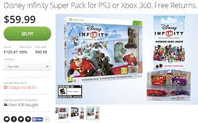infinity 360. xbox 360 ps3 disney infinity super pack deal from groupon