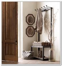 Coat Rack With Storage Baskets Metal Entryway Storage Bench With Coat Rack General Within And Plan 16