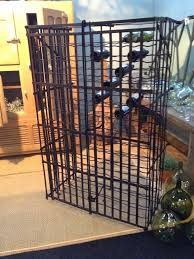 Large French Lockable Wine cage. Enlarge Image