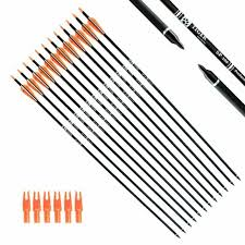 Tiger Archery 30inch Carbon Arrow Practice Hunting Arrows With Removable Tips Fo