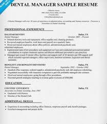 Office Manager Skills Resume Impressive Dental Office Manager Resume