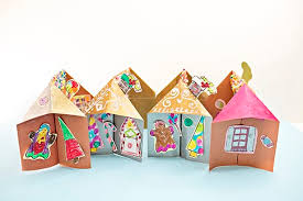 3d Paper Gingerbread House Craft