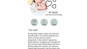 Newborn Baby Development Week By Week Chart 17 Best Baby Apps For New Parents