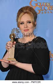 Adele at the 70th Golden Globe Awards at the Beverly Hilton Hotel ...