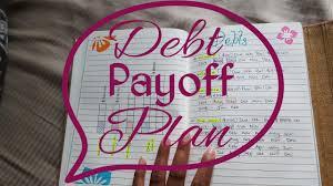 Debt Payoff Plan Youtube