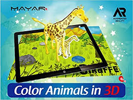 mayar color s in 3d 22 s in 1 book augmented reality based 3d coloring book for kids learn by fun educational gift for children
