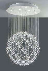 astounding 3 light crystal ball pendant chandelier pictures design