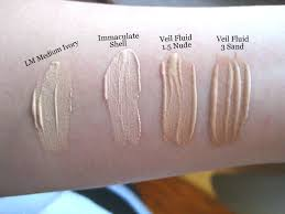 swatches of the hourgl veil fluid foundation google search