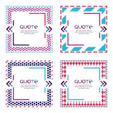 vector set of quote forms and frames geometric pattern vector vector set of quote forms and frames geometric pattern multicolor trendy background blank colorful speech bubbles isolated on white