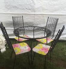 salterini outdoor furniture. Image Is Loading Vintage-Mid-Century-Iron-Scroll-Patio-Set-Outdoor- Salterini Outdoor Furniture