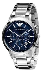 buy imported emporio armani ar2448 stainless steel blue dial mens buy imported emporio armani ar2448 stainless steel blue dial mens chrono watch online