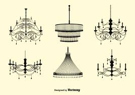 free vector crystal chandelier set free vector art stock graphics images