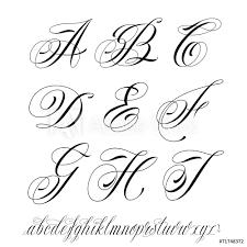 Fotografie Obraz Tattoo Style Alphabet Posterscz