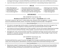 Traditional Resume Template Free Best of Executive Assistant Resume Samples Secretary Sample Senior Job