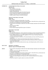 Industrial Resume Examples Industrial Manager Resume Samples Velvet Jobs 15