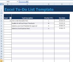 To Do List Excel Excel To Do List Tirevi Fontanacountryinn Com