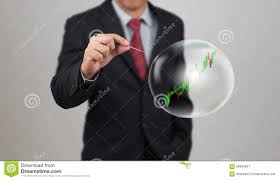 Bluehole Stock Chart Hand Hole Needle With Stock Chart In Bubble Stock Image