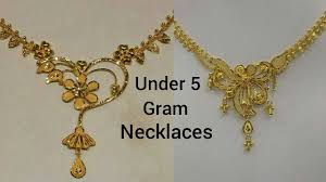 Gold Cheek Necklace Design Cheap And Affordable Gold Necklaces Designs Under 5 Gram