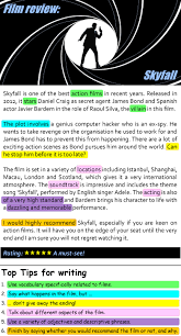 sample of a movie review best ideas about film review english  skyfall film review learnenglish teens british council