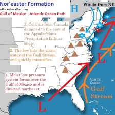 how does a nor easter form how noreasters form wildcard weather