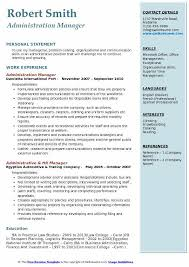 Resume For Managerial Position Administration Manager Resume Samples Qwikresume