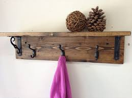 Shelf And Coat Rack Shelf Handmade Wall Mount Rustic Wood Coat Rack With Shelf White 41