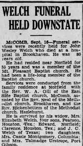 Obituary for John Wesley Welch (Aged 80) - Newspapers.com