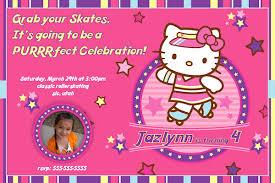 Free Printable Hello Kitty Birthday Party Invitations Free