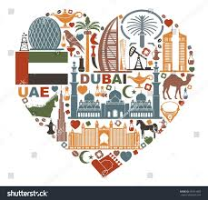 Symbols Of The United Arab Emirates in form the heart