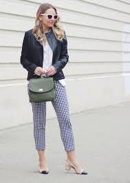 the steele maiden gingham pants and leather jacket