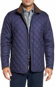 Men's Quilted, Puffer & Down Jackets | Nordstrom & Peter Millar Suffolk Quilted Water-Resistant Car Coat Adamdwight.com