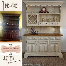 The hutch makeover turned out really well, I must say. What a difference to