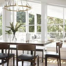 danish chairs at metal and wood dining table
