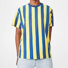 Yellow Designer Shirt Mens New Latest Design Summer Designer Men Thick Yellow Striped Crew Neck Fashion T Shirt Odm Oem Service View Men T Shirt Sunrise Product Details From