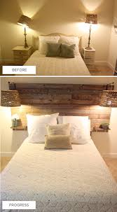 Diy Wood Headboard Headboard Love The Built In Shelves But I Want The Wood All The