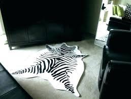 zebra cowhide rug white rugs hide print uk large siz