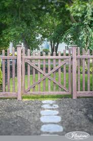wood picket fence gate. Picket Fence Gates Beautiful Vinyl Wood Grain From . Gate